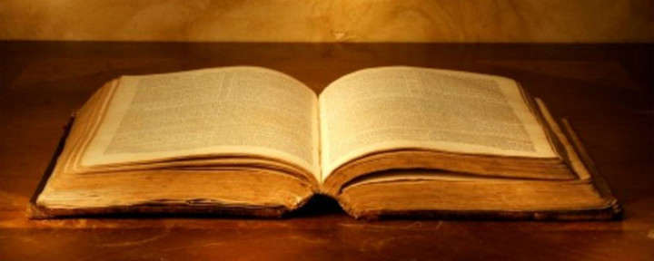 Image of an open Bible