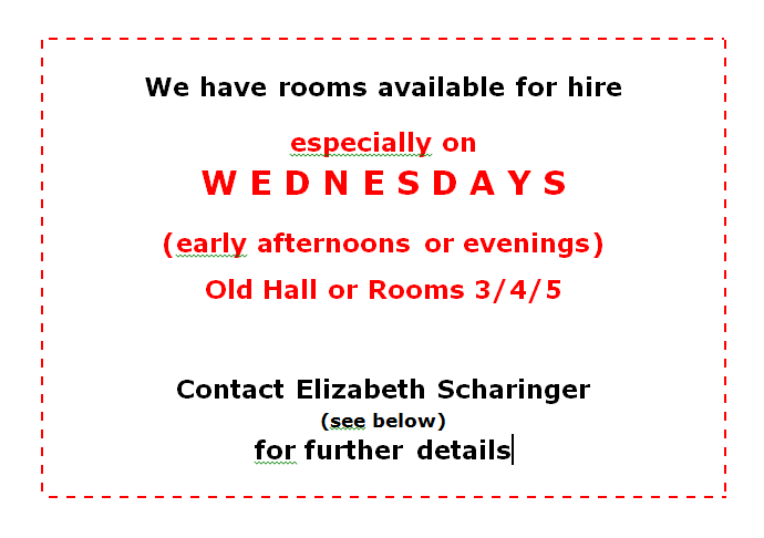 Wednesday room hire