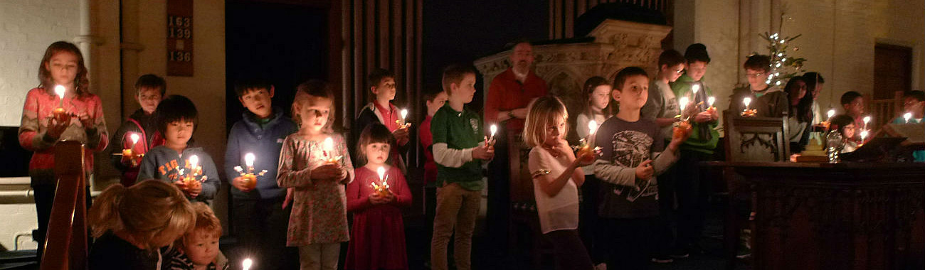 Christingle service 2014 children in church candles