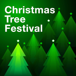 Banner for the Christmas Tree Festival